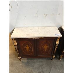 FRENCH STYLE HALL TABLE WITH GOLD MOTIF