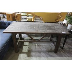 WOOD TRESTLE BASED TABLE