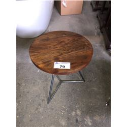 MODERN WOOD TOP SIDE TABLE