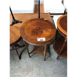 WOOD 2 TIERED ROUND OCCASIONAL TABLE