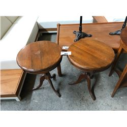 PAIR OF SOLID WALNUT SIDE TABLES