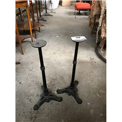 PAIR OF CAST IRON BASES