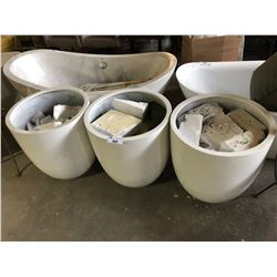 LOT OF 3 LARGE PLANTERS