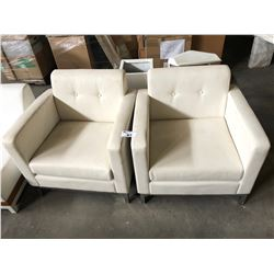PAIR OF LEATHER OCCASIONAL CHAIRS