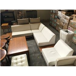 4 PIECE LEATHER SECTIONAL SET