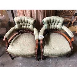 PAIR OF ANTIQUE VICTORIAN ARMCHAIRS