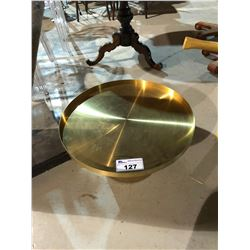 SMALL BRASS METAL TABLE