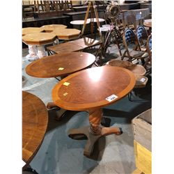 PAIR OF OVAL WOODEN PARLOR TABLES