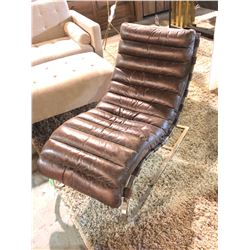 LEATHER MODERN CHAISE LOUNGE