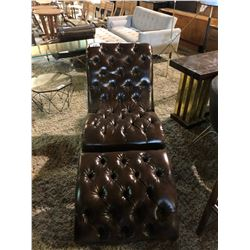 BUTTON BACK CHAIR WITH OTTOMAN