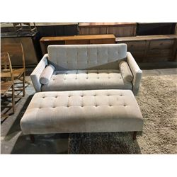 CLICK CLACK BED WITH LARGE OTTOMAN