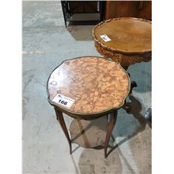 MARBLE TOP 2 TIERED OCCASIONAL TABLE