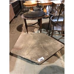 MODERN MARBLE TOP METAL BASED COFFEE TABLE