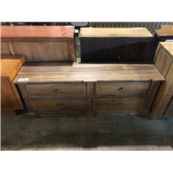 4 DRAWER SOLID WOOD TV STAND