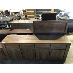 4 DRAWER AND 4 DOOR WOOD SIDEBOARD