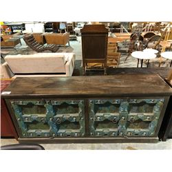 LARGE HEAVILY CARVED GOTHIC SIDEBOARD