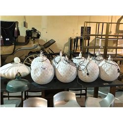 LOT OF 10 HANGING LAMPS
