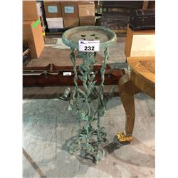 4' TALL CAST METAL PLANT TABLE