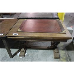 ANTIQUE DRAW LEAF TABLE