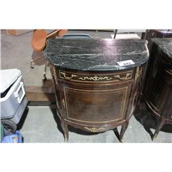 FRENCH STYLE MARBLE TOP HALL TABLE