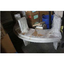 PAIR OF CURVED BENCHES