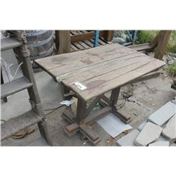 RUSTIC WOOD TABLE