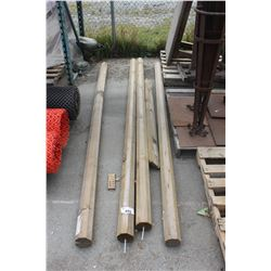 LOT OF 4 WOODEN POSTS