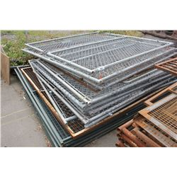 PALLET LOT OF METAL FENCE PIECES