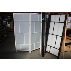 LOT OF 3 ROOM DIVIDERS