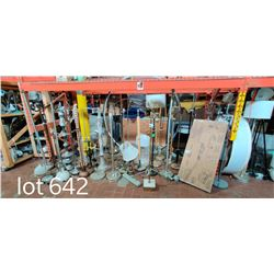 LARGE LOT OF FLOOR LAMPS