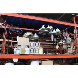 LARGE LOT OF LIGHT FIXTURES ON PALLET RACKING