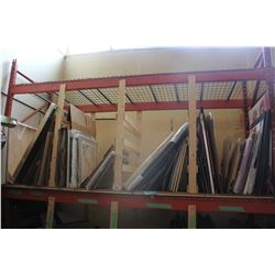 LARGE LOT OF ARTWORK ON UPPER PALLET RACKING
