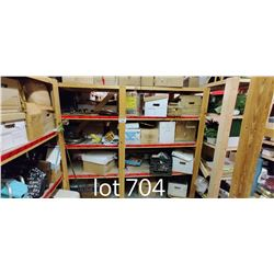 SHELVING UNIT INCLUDING MISC MOVIE SET ITEMS, INCLUDING SHELVING UNIT