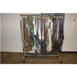 ROLLING RACK OF COSTUMES AND CLOTHING, RACK NOT INCLUDED