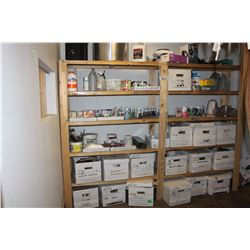 LARGE LOT OF PAINT, DYES, AND CLEANERS