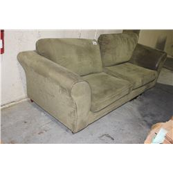 GREEN SOFA, SOME WEAR