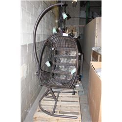 HANGING PATIO CHAIR WITH STAND