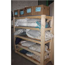 SHELF OF DECORATIVE CUSHIONS, SHELF INCLUDED