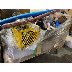 ROLLING CART OF ASSORTED MOVIE SET ITEMS