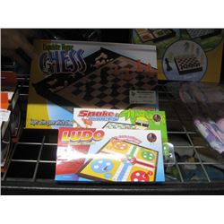 3 GAME BOREDS (SNAKES&LADDERS,CHESS,LUDO)