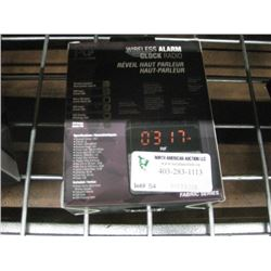 WIRELESS ALARM CLOCK RADIO