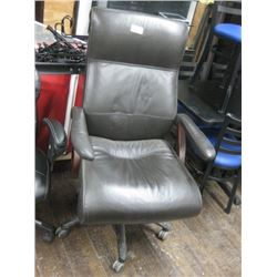BROWN LONG BACK OFFICE CHAIR