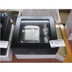 BLACK GLASS FLASK GIFT SET