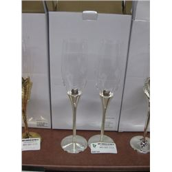 SILVER CHAMPAGNE GLASS SET