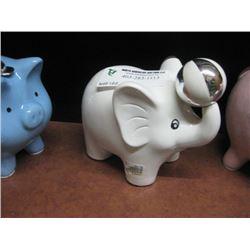 WHITE ELEPHANT MONEY BANK