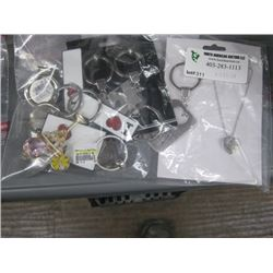 BAG OF ASSORTED KEYCHAINS