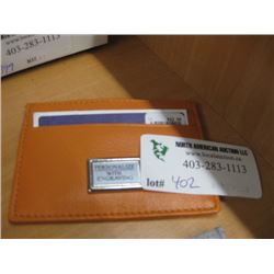 SMALL CARD WALLET ORANGE
