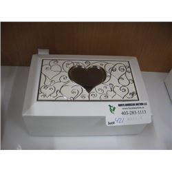 HEART RECTANGLE JEWEL BOX