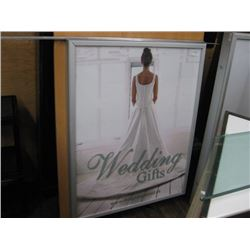 36 X 46 INCHES LIGHT UP SIGN BOARD