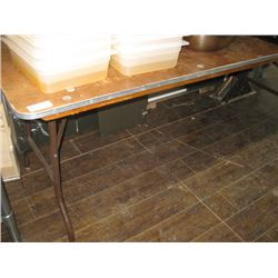 6FT WOOD FOLDING TABLE